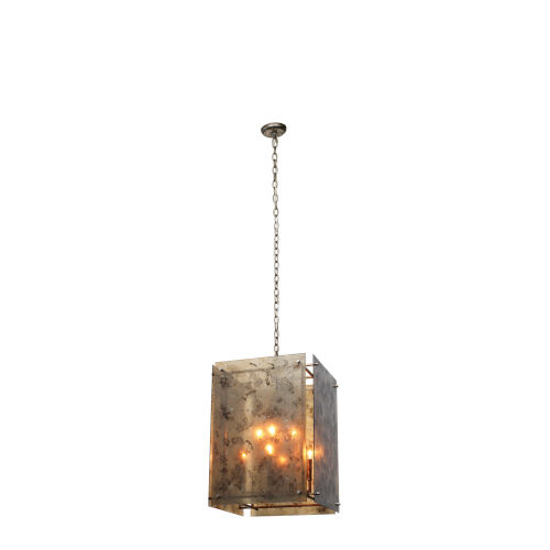 Gravity Antique Mercury Glass with Champagne Leaf Eight-Light Chandelier