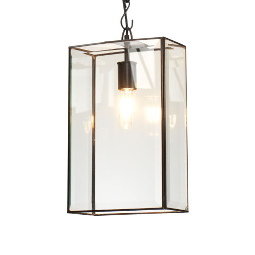 Harlem Oiled Bronze and Clear Glass One-Light Pendant