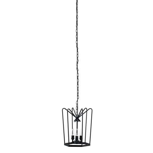 Hirondelle Blackened Iron 12-Inch Chandelier
