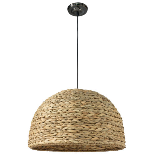Shoreline Natural Seagrass One-Light Pendant