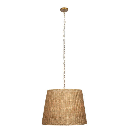 Willow Natural Seagrass Two-Light Chandelier