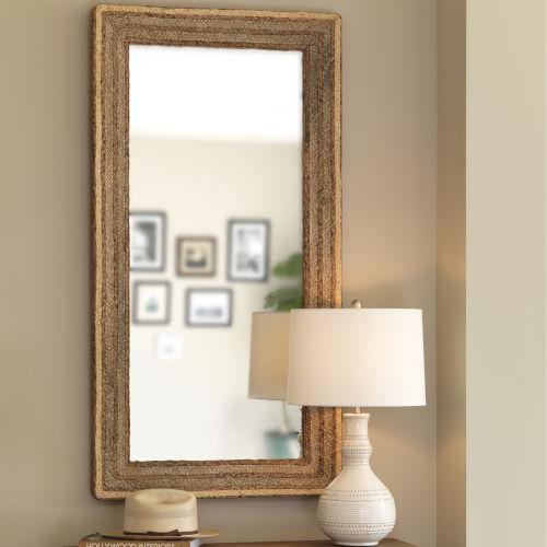 Evergreen Natural Rectangle Mirror