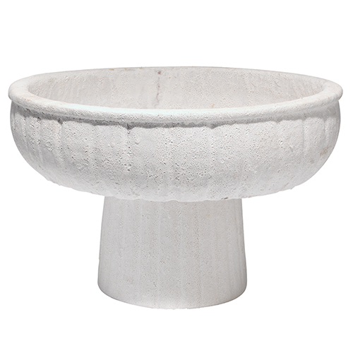 Aegean Matte White 15-Inch Pedestal Bowl