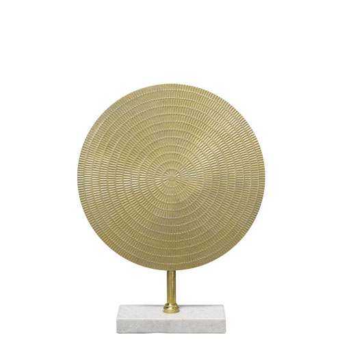 Cleopatra Raw Gold with White Marble Sculpture