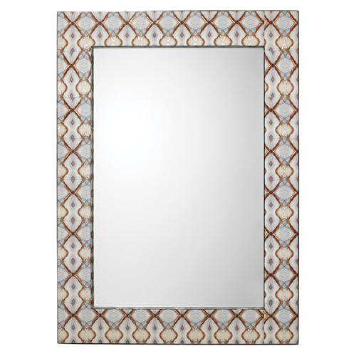 Kaleidoscope Light Gray Blue  Mirror
