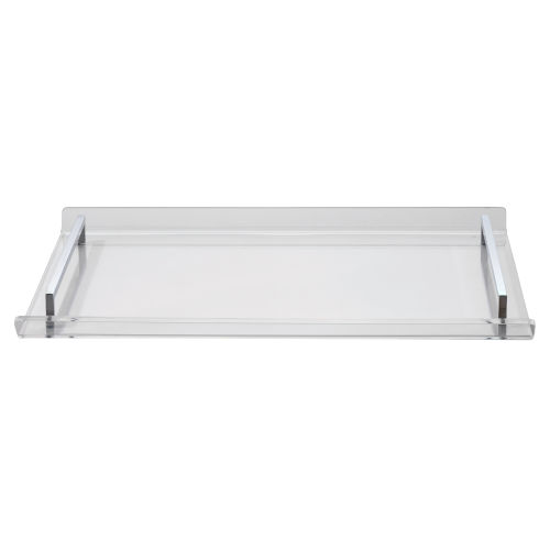 Lucille Transparent And Chrome Acrylic Tray