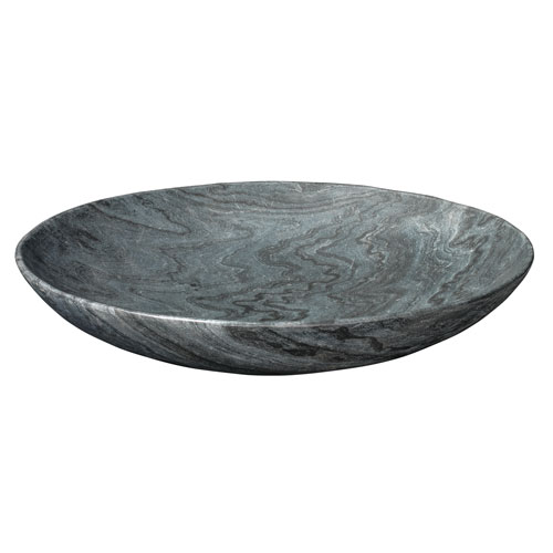 Jamie Young Company Grey Marble Round Bowl