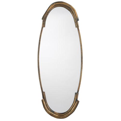 Margaux Antique Brass 17 x 45 Inch Mirror