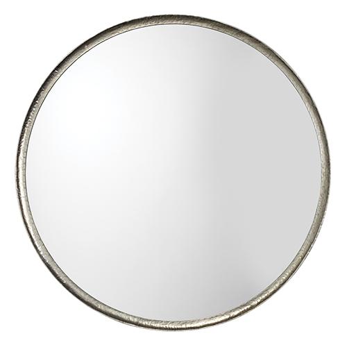Refined Silver Leaf Round Mirror