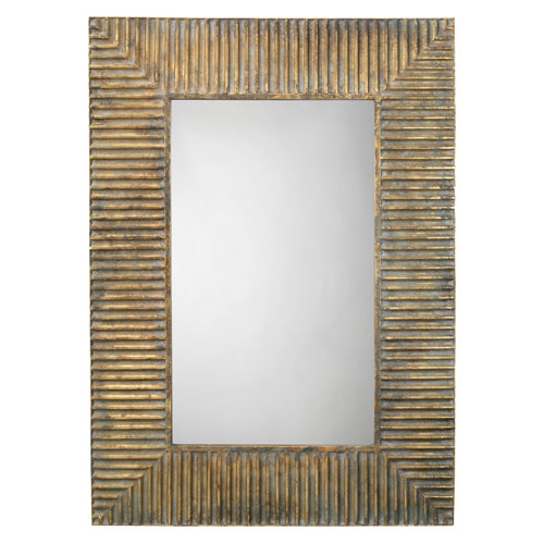 Jamie Young Company Antique Brass Mirror