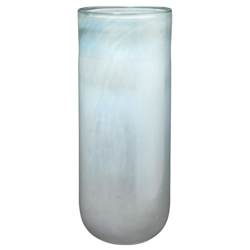 Vapor Metallic Opal 20-Inch Glass Vase