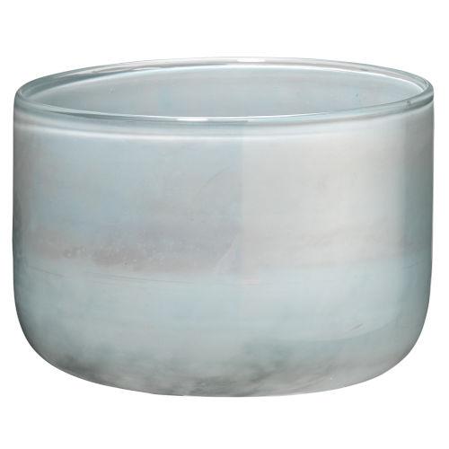 Vapor Metallic Opal Five-Inch Glass Vase