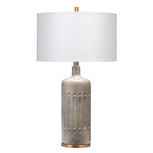 Annex Grey and Antique Brass One-Light Table Lamp