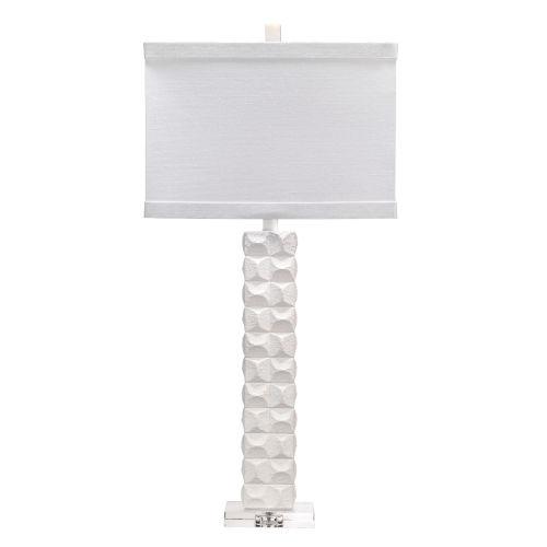 Astor Textured Matte White One-Light Table Lamp