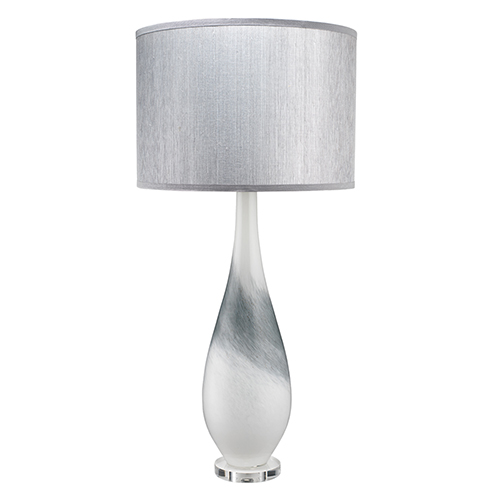 Dewdrop Gray Swirl One-Light Table Lamp