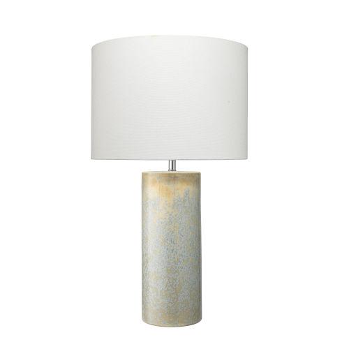 Easton Seafoam and Cream Reactive Glaze One-Light Table Lamp