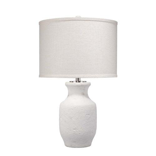 Gilbert Textured Matte White One-Light Table Lamp