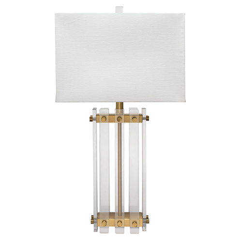 Grammercy Acrylic And Antique Brass One-Light Table Lamp