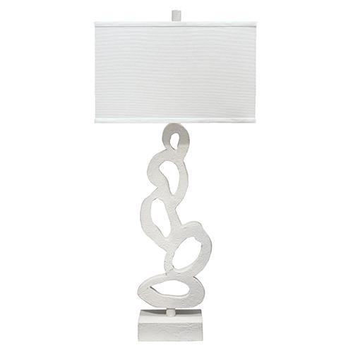 Ivy White Plaster One-Light Table Lamp