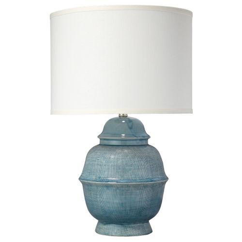 Kaya Blue Ceramic One-Light Table Lamp