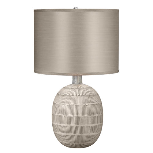 Prairie Beige and Off White One-Light Table Lamp