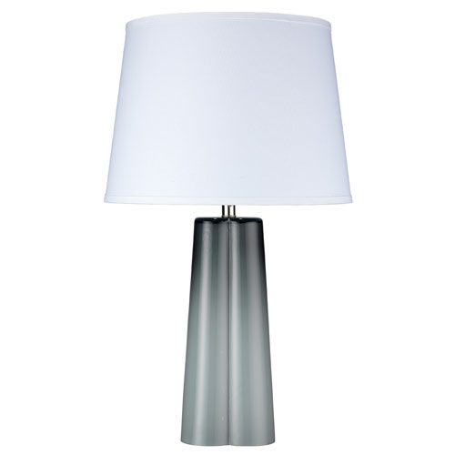 Jamie Young Company Quatrefoil Cool Grey Glass One-Light Table Lamp