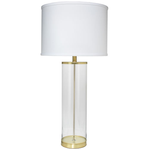 Rockefeller Brass One-Light Table Lamp