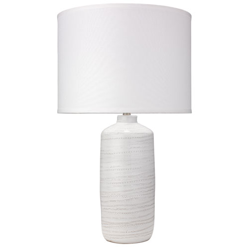 Trace White 18-Inch Table Lamp