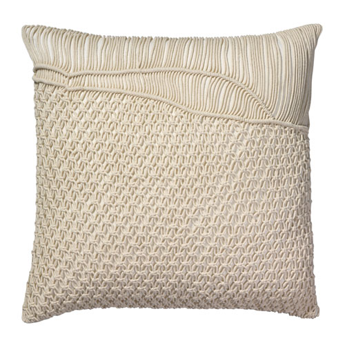 Saguaro Cream Macrame  Pillow