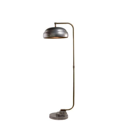 Steam Punk Gun Metal One-Light Floor Lamp