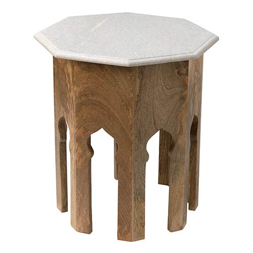 Jamie Young Company Atlas White Marble Side Table