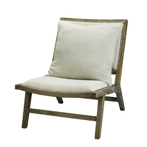 Baldwin Grey Linen and Wood Chair