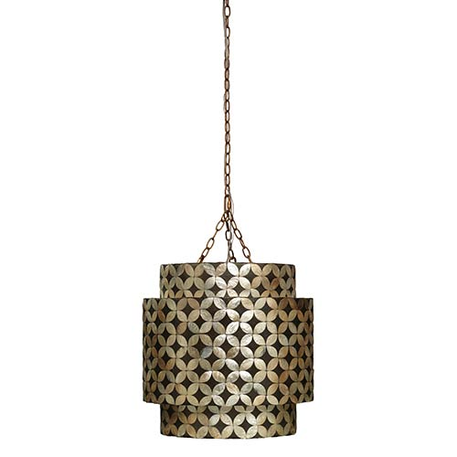 Jamie Young Company Pacific Capiz Shell One-Light Chandelier