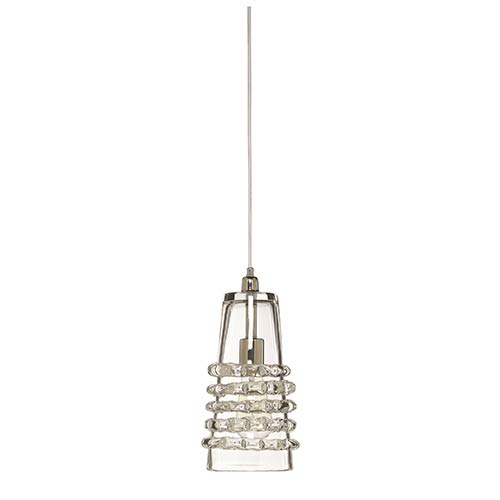 Jamie Young Company Ribbon Clear One-Light Long Mini-Pendant