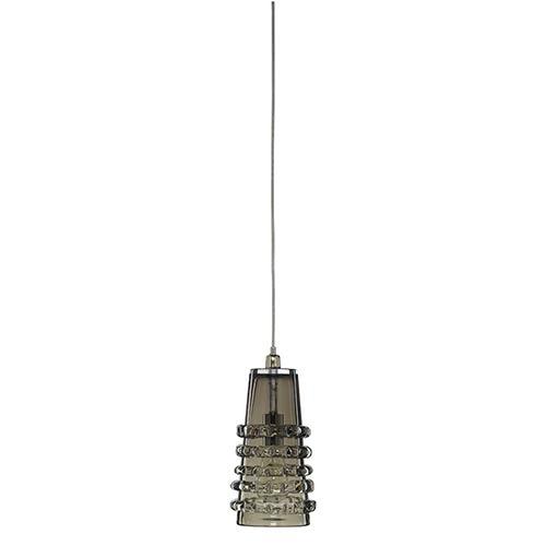 Ribbon Taupe One-Light Long Mini-Pendant