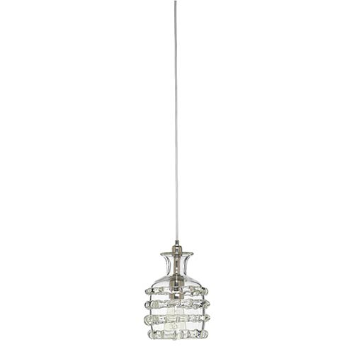 Ribbon Clear One-Light Mini-Pendant
