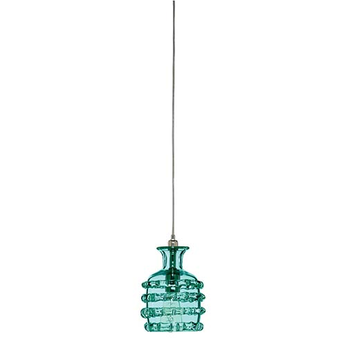 Jamie Young Company Ribbon Lake Blue One-Light Mini-Pendant