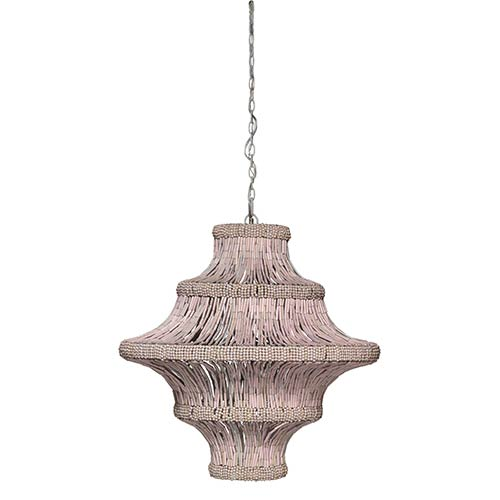 Jamie Young Company Whisper Blush Four-Light Chandelier with Beads