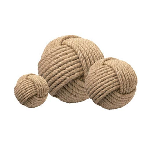 Jute Tan Decorative Balls, Set of 3