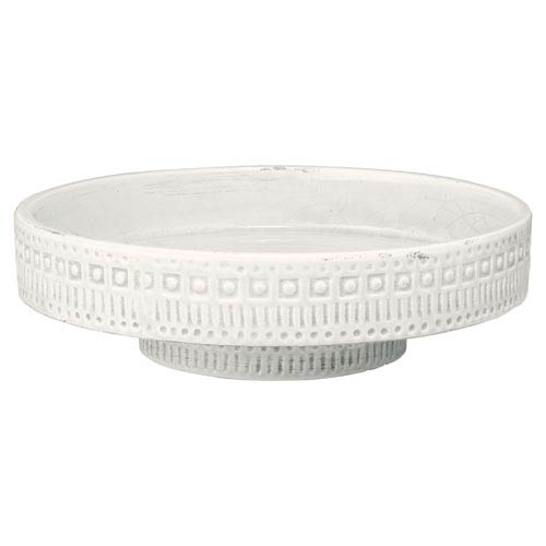 Jamie Young Company Coco White 13.5-Inch Pedestal