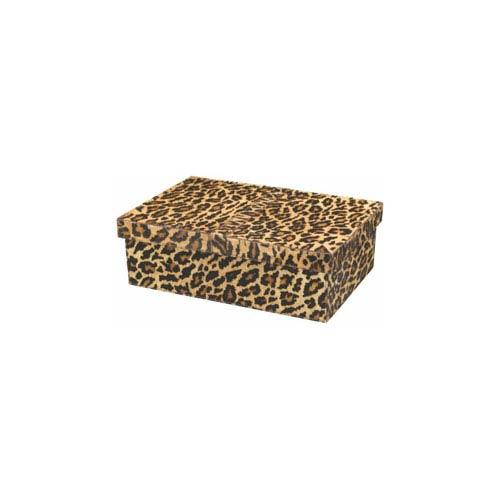 Frontera Leopard Print Hide Boxes, Set of 2