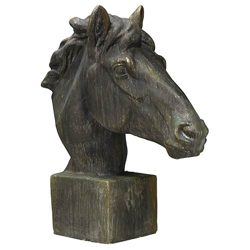 Jamie Young Company Mustang Antique Iron Horse Head Statue