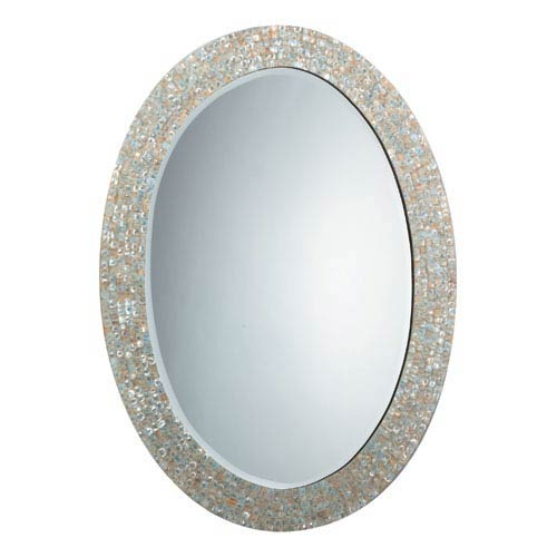 Jamie Young Company Mother of Pearl Oval Mirror