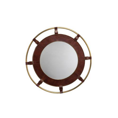 36 inch round mirror oversized jamie young company tobacco leather 36inch round mirror 36 inch 7port mito