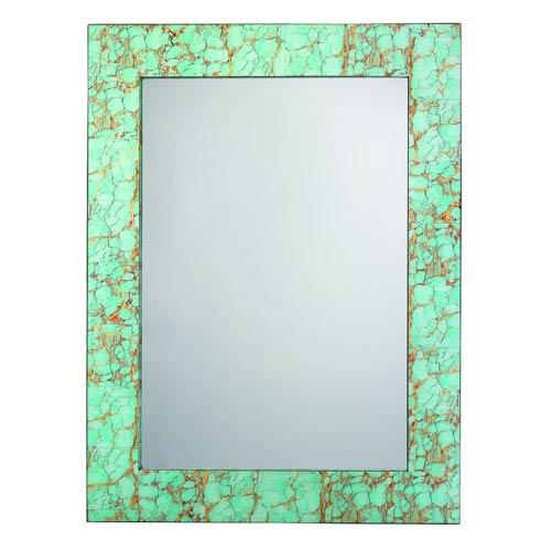 Turquoise Pebble Mirror