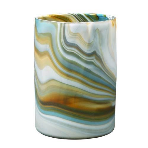 Terrene Grey Swirl 11-Inch Vase