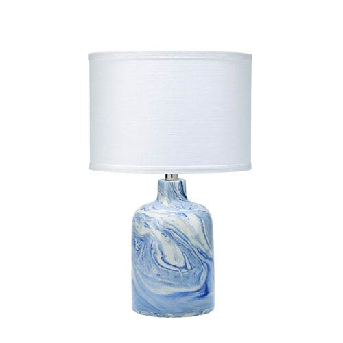jamie young company atmosphere white and blue swirl table lamp