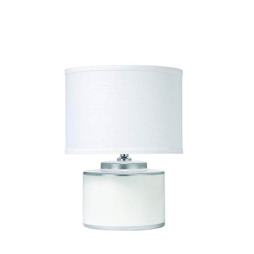 Basin White and Silver Table Lamp