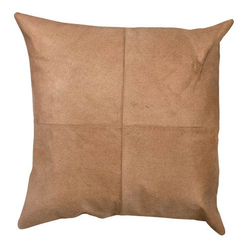 Buff Hide 24-Inch Decorative Pillow