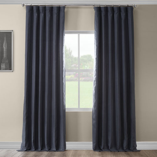 French Navy 120 x 50 In. Linen Curtain Panel